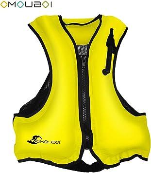 Amazon.com: OMOUBOI chaleco salvavidas hinchable para adulto ...
