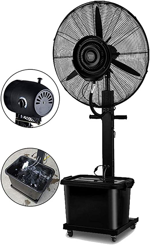 Ventilador de Piso Niebla Ventilador oscilante Industrial ...