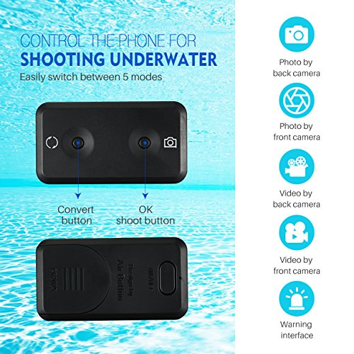 Mpow Waterproof Phone Pouch, IPX8 Waterproof Case, Dry Bag, with Bluetooth Controller for Taking Photos and Videos, Compatible for iPhone X/8/8P//7/6s, Galaxy S9/S9 Plus/S8, Google up to 6.0'' by Mpow (Image #2)