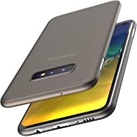 TOZO for Samsung Galaxy S10e Case Ultra-Thin Hard Cover Slim Fit [0.35mm] World's Thinnest Protect Bumper for Samsung Galaxy S10e [ Semi-Transparent ] Lightweight [Matte Finish Black]