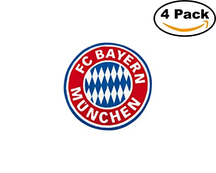 Amazon Basketball Fc Bayern Munich Logo 4 Stickers 4x4 Inches