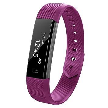 Cebbay Reloj Inteligente Bluetooth 4.0 Impermeable y Resistente al Sudor Pulsera Podómetro Reloj Deportivo Reloj electronico Reloj de Hombre Reloj led: ...