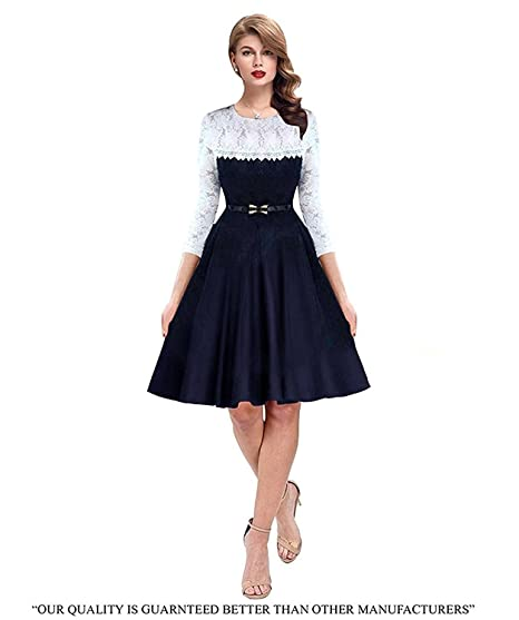 a495e488d8 GSB Fashion Heer Blue Women s Western Wear Party Wear Skater Dress   Amazon.in  Clothing   Accessories