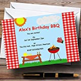 Summer Bbq Grill Theme Personalized Birthday Party Invitations