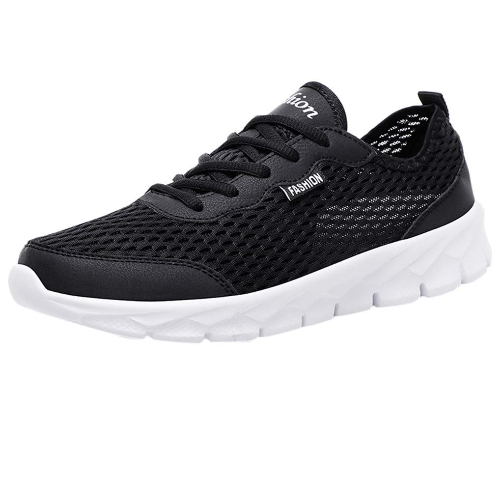 OutTop(TM) Couple Sneakers Summer Casual Sports Shoes Mesh Beach Breathable Students Running Walking Shoes (US:10, Black)