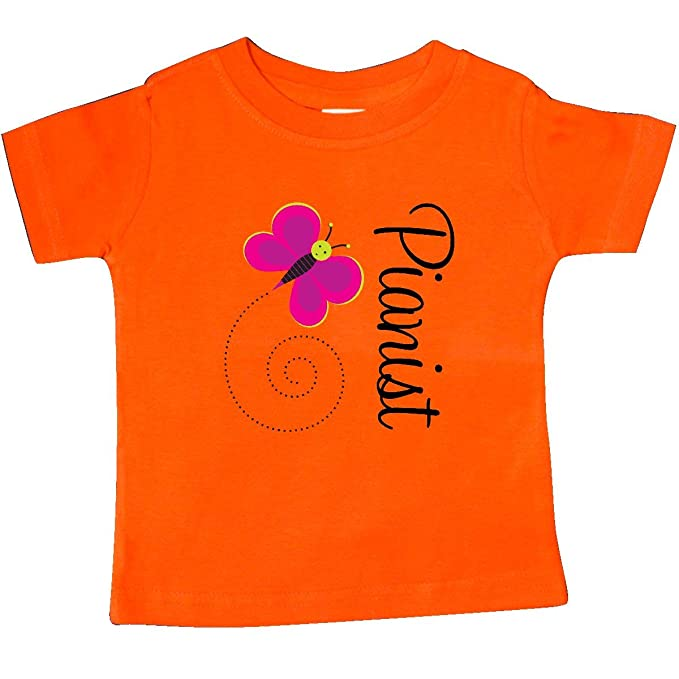 inktastic Pianist Piano Butterfly Baby T-Shirt