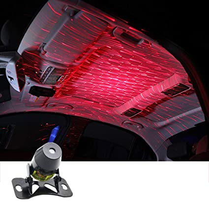 img buy Auto interiors Roof Star Projector Lights, Meteor Efect USB Night Lamp Fit All Cars Ceiling Decoration Light Interior Ambient Atmosphere