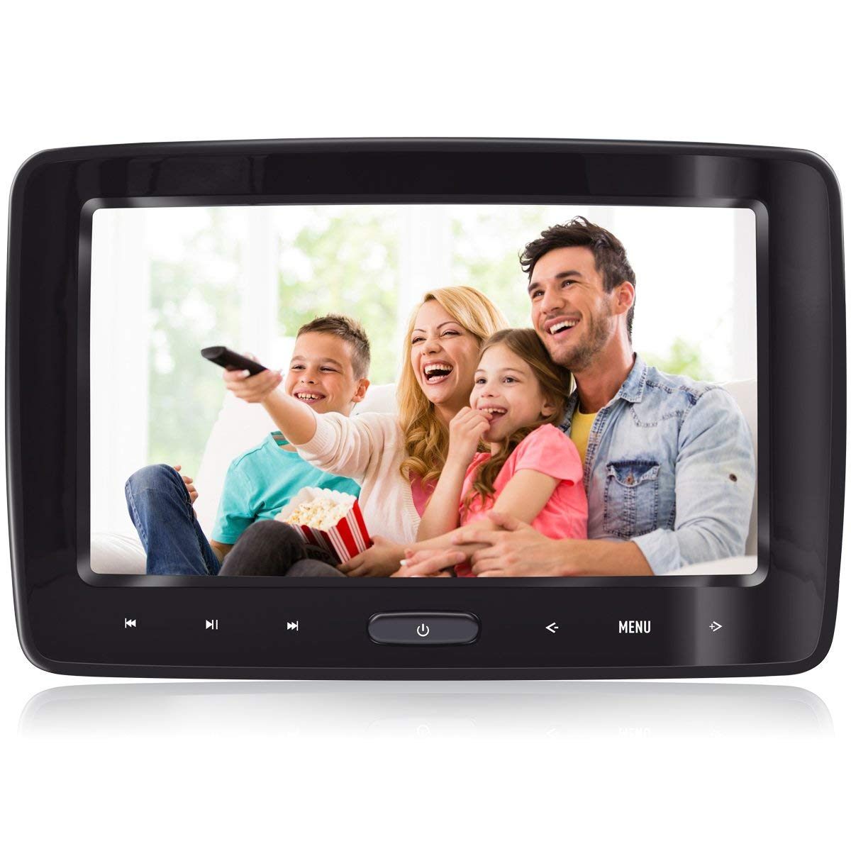 Headrest DVD Player for Car Can Use Both in Car or at Home as DVD Player eRapta Second Generation Gift Idea by eRapta