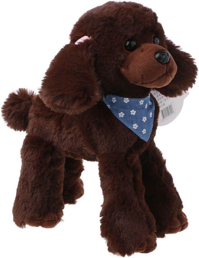 Wrubxvcd Peluches Mascotas, caniche, Regalos para los niños
