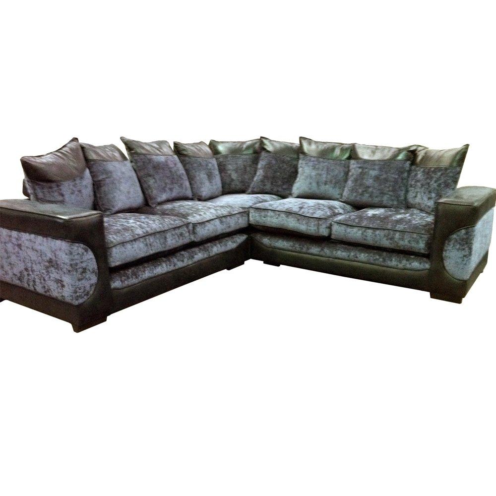 Miraculous Halo Corner Sofa Black Grey Fabric Corner Sofa Amazon Co Uk Lamtechconsult Wood Chair Design Ideas Lamtechconsultcom