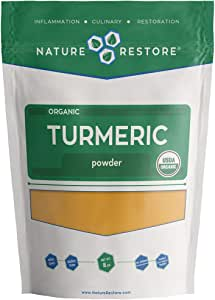 USDA Certified Organic Turmeric Powder with Natural Curcumin, Non-GMO and Gluten-Free (8 Ounces)