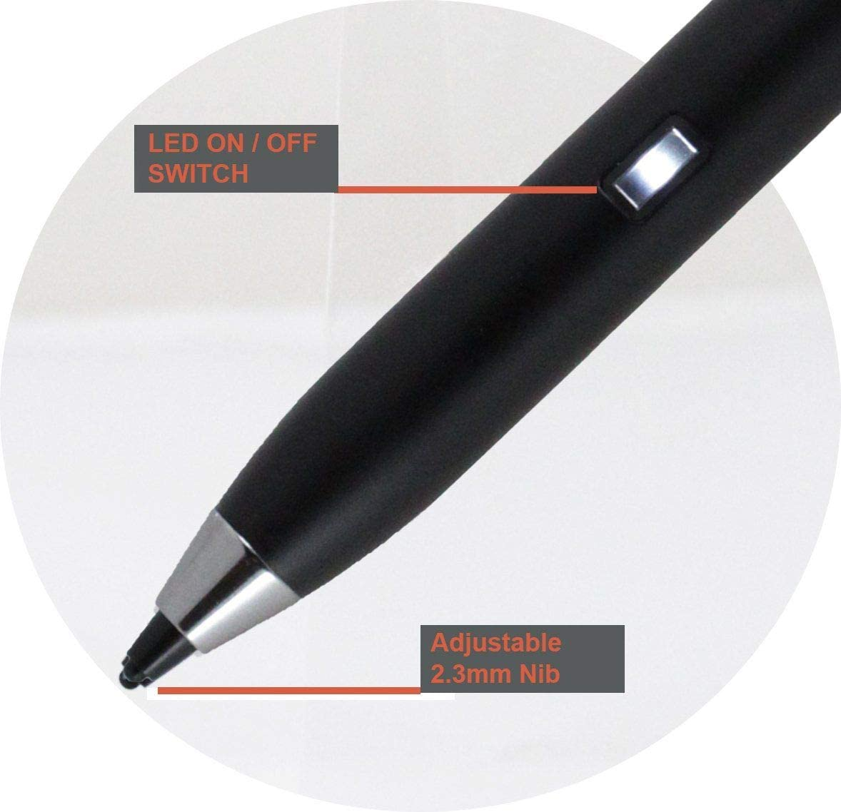 Fusion5 10.1 Android 8.1 Oreo Tablet Broonel Black Fine Point Digital Active Stylus Pen Compatible with The Fusion5 9.6 Fusion5 4G Tablet