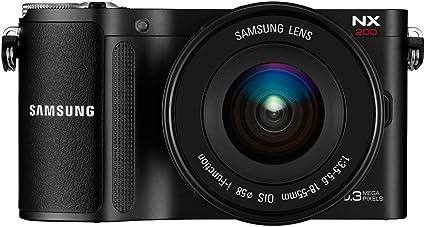 Kompakte Samsung Nx200 Systemkamera Schwarz 18 55 Mm Kamera