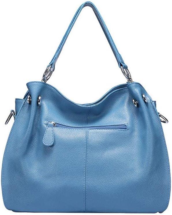 ZHDWM Borsa a Mano Casual Nappa Borsa a Tracolla Borsa Messenger Bag Lady Bag 38x14x28cm Borsa a Mano Giallo Blu