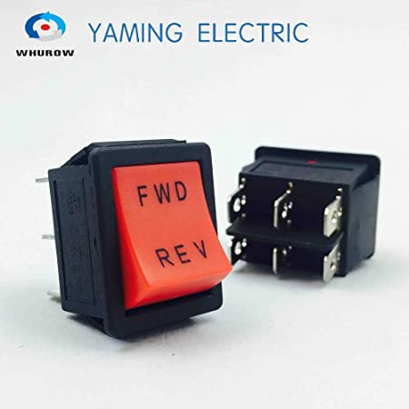 5x Lot Red Rocker Switch ON//OFF//ON 3-Positions 6-Pin With LED Light AC 250V//16A