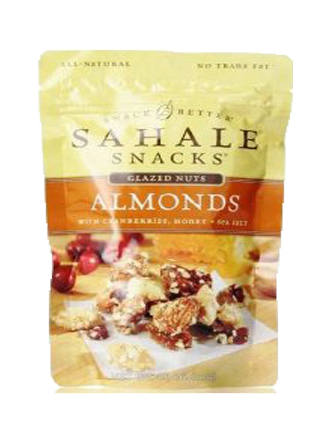 Sahale Snacks All Natural Glazed Nut Blend - Almonds With Cranberries Honey and Sea Salt (4.0 oz X 6 Pack)