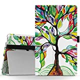 MoKo Lenovo Tab3 A8 / Tab2 A8 Case, Ultra Compact Premium Slim Folding Stand Cover Case for 2015 Release Lenovo Tab 2 A8-50, 2016 Release Lenovo Tab 3 8 (TB3-850F) 8-Inch Tablet, Lucky Tree