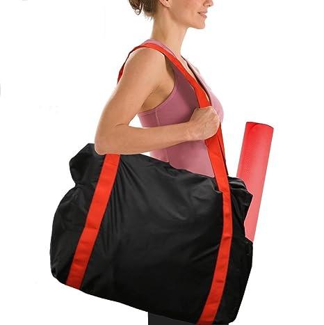 Gentle Yoga Mat Bag Waterproof Backpack Shoulder Messenger Sport Clothes Duffel Bag For Womens Fitness Gym Bag Ropa, Calzado Y Complementos no Yoga Mat