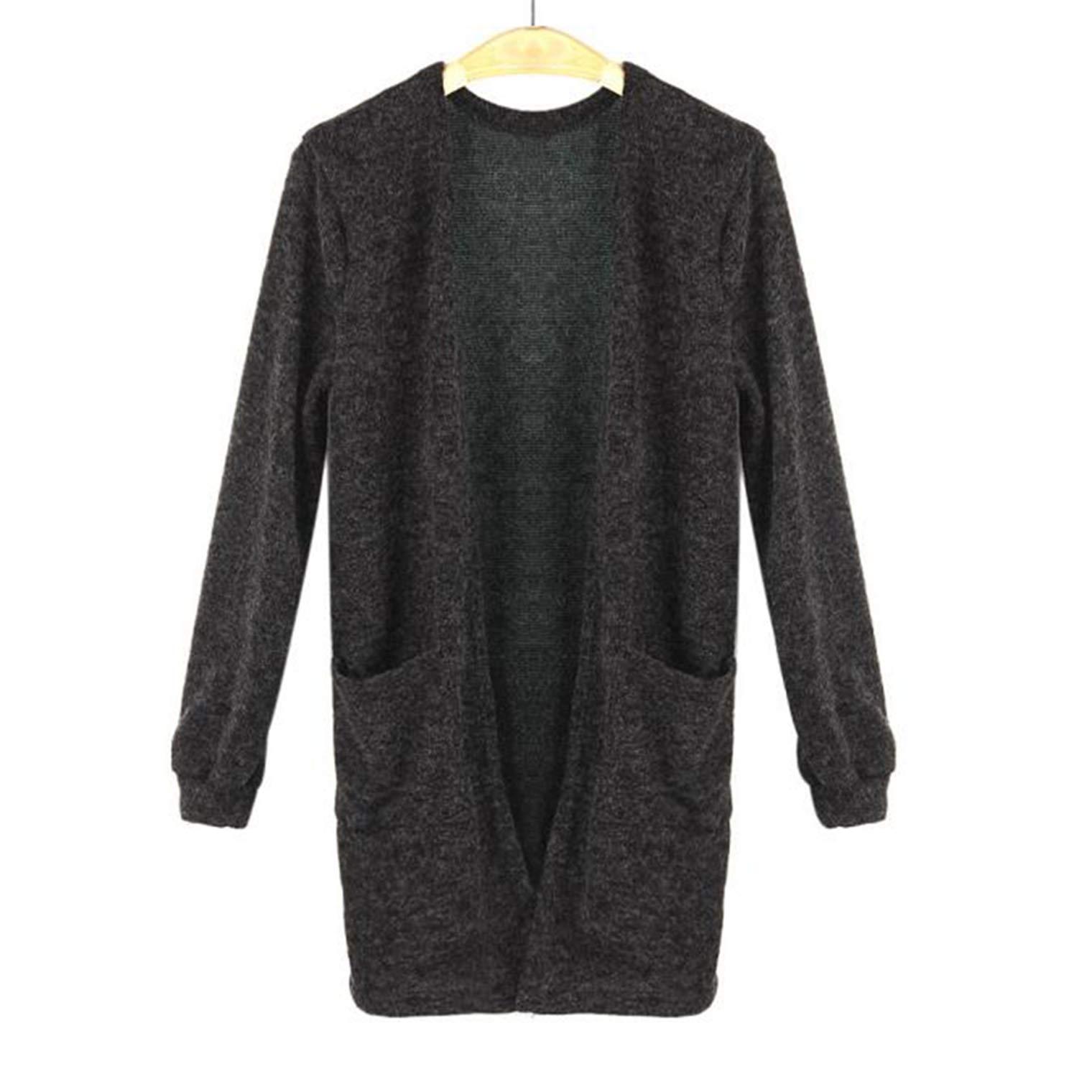 VANSOON Womens Long Sleeve Knitted Cardigan Outwear Coat, Tops Loose Sweater Casual Jacket Coat Sweater Tunic Sweatshirt