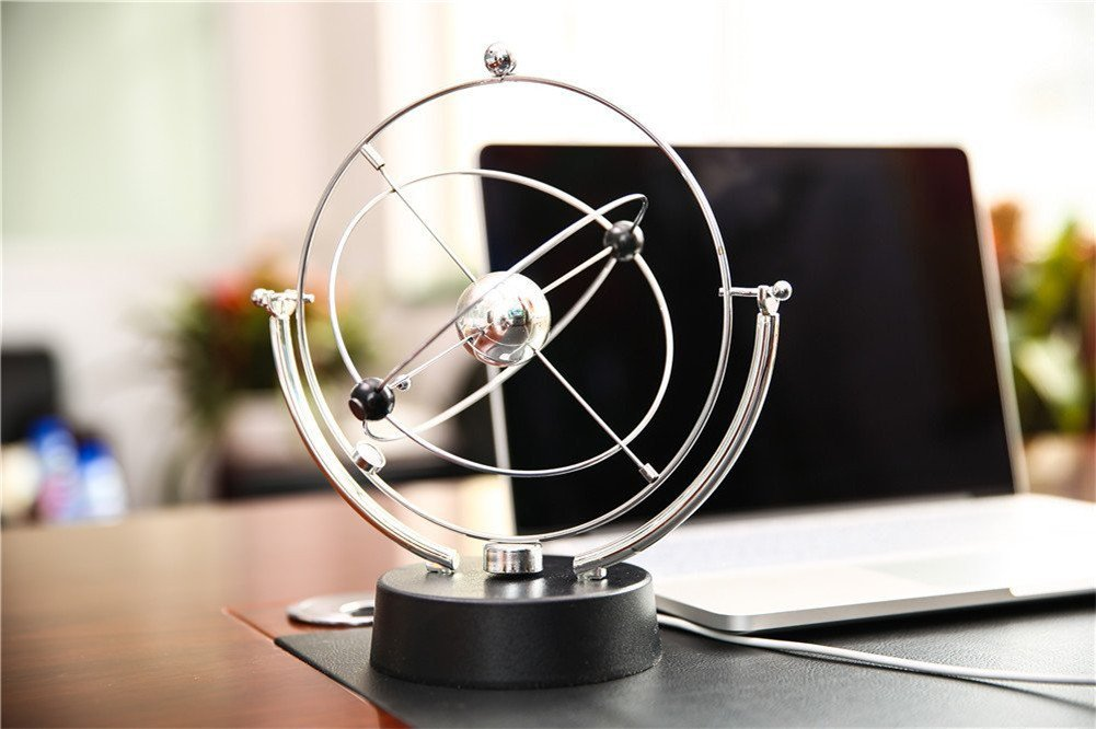 Silber PROW/® Simulation Milchstra/ße Ring Modell Elektronisch Perpetual Motion Spielzeug Das dynamische Gleichgewicht Instrument Beste B/üro Desktop Dekoration
