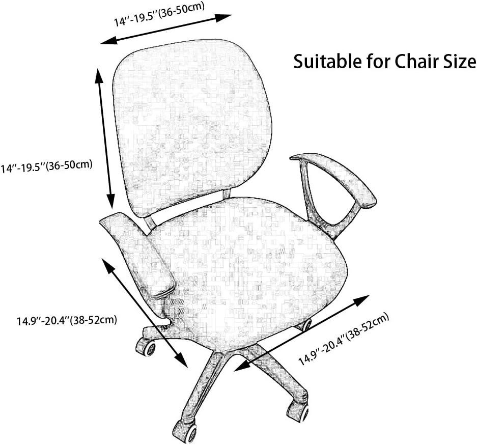 frifer funda para silla oficina protectora elástica para silla de oficina funda séparée Protector de reposabrazos para casa oficina Azul gOLSd2