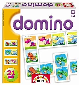 Educa DOMINO DINOSAURIOS: Amazon.es: Juguetes y juegos