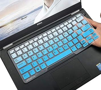 DELL Latitude Funda de Teclado de Silicona para DELL Latitude E7450 E7470 E5470 E7480 5480 5490 7490 Laptop Keyboard Protector de Teclado, Gradual ...