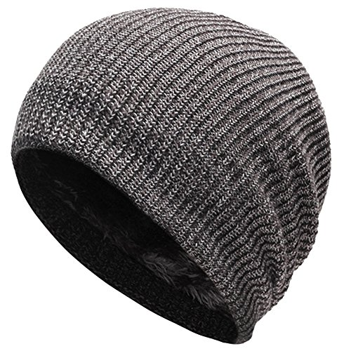 EDTara Beanie Hat for Men and Women Casual Warm Knitted Hat Windproof Hat for Outdoor Sports Riding Winter Autumn Gray (Ralph Lauren Baby Boy Beanie)