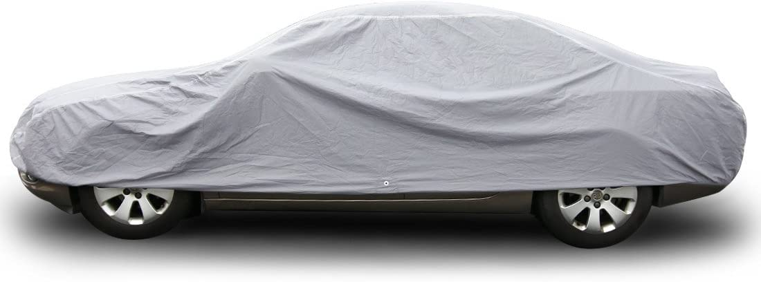 "Copap Car Covers 3 Layer PE & Cotton Universal All Weather Protection Water Resistant UV&Dust Proof (XL Size Fits up to 185"")"