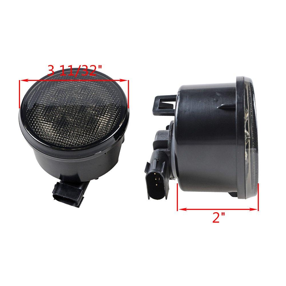 2x Amber Led Front Turn Signal Light Assembly Smoke Lens Turnsignal Systems For 2007 2017 Jeep Wrangler Jk Jku Automotive