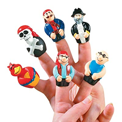 Pirate Finger Puppets (Set of 24) Fun Character Toys and Play: Toys & Games