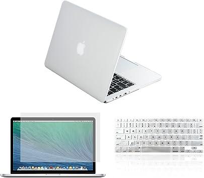 """Keyboard Cover 3 in 1 Rubberized ORANGE Case for Macbook PRO 15/"""" LCD Screen"""