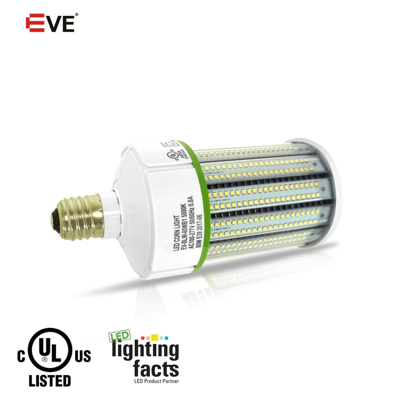 80Watt LED Corn Light Bulbs 9600lumen (400 to 600W Equivalent) Large Mogul Screw E39 Base Daylight 5000K LED Retrofit Lamp,360 Degree Flood Light, Replacement for Metal Halide Bulb, HID, CFL, HPS