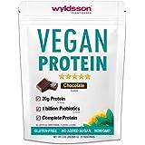 Vegan Protein Powder (2lb) with Probiotics, Vital Minerals & Organic Fruit & Veg | No Added Sugar, Dairy-Free, Gluten-Free, Non-GMO, Sun Blessed Optimum Plant-Based Protein Shake (Chocolate)