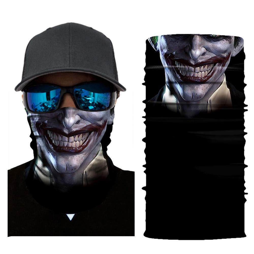 3D Pattern Effect Outdoor Multifunctional Headwear Athletic Headwrap Cycling Motorcycle Neck Face Mask Scarf
