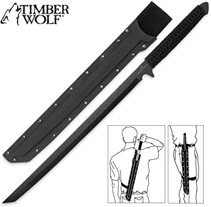 Amazon.com: Timber Wolf espada ninja de hoja completa ...