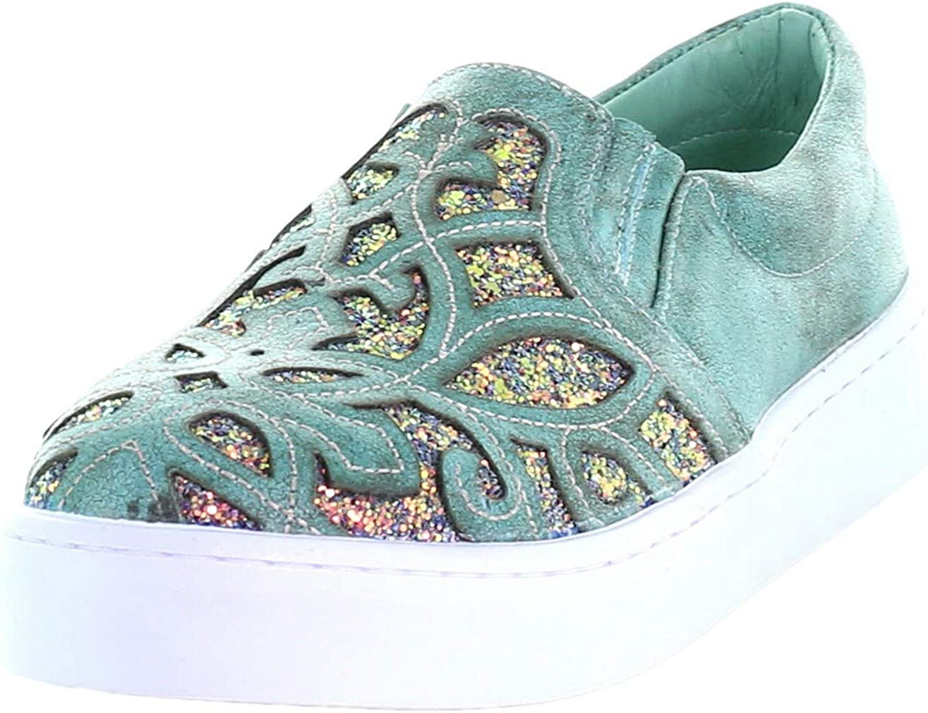 CORRAL Turquoise Embroidered Glitter