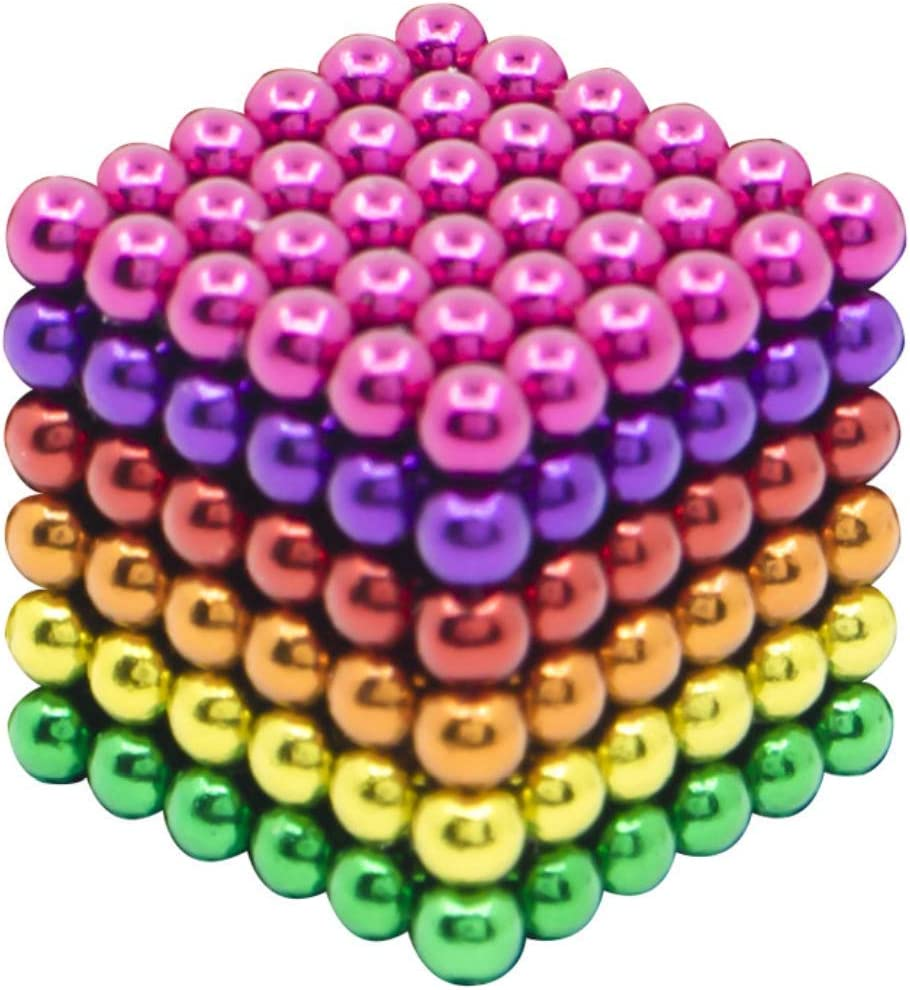 sunsoy Magnet Balls Toy for Adults Beads 216 Pieces 5 MM Creative Design Stress Relief Magnets Strong for Office
