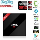 H96 PRO+ Android 6.0 3GB/32GB TV Box, ShySky Amlogic S912 64bit Octa Core 4K Kodi 16.1 Preinstalled Full Loaded Double WiFi 2.4G/5.8G Bluetooth 4.1 1000M Ethernet Streaming Media Player