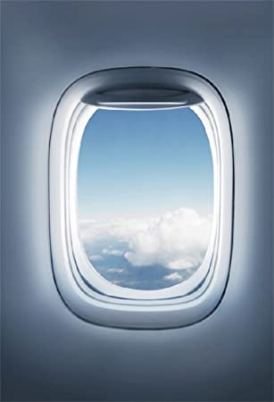 Amazon Com Csfoto 5x7ft Background For Airplane Window Inside An