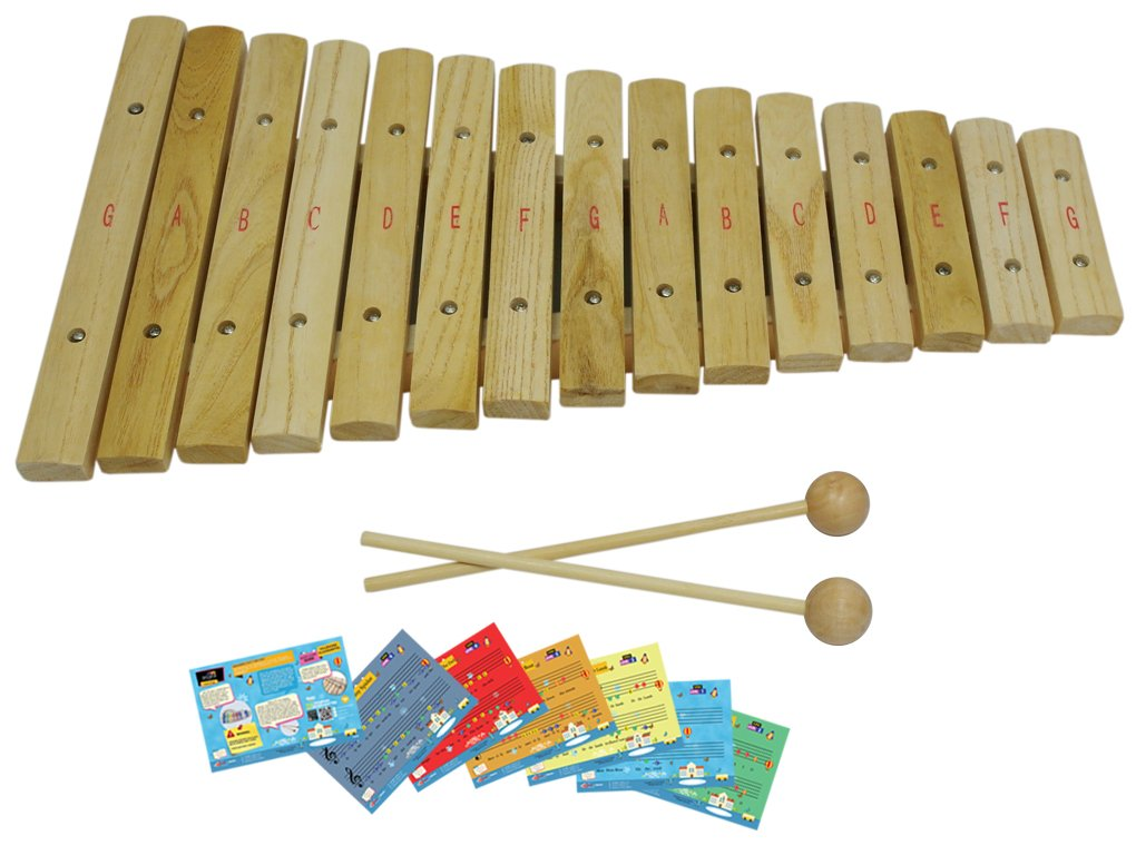 D'Luca XL15A 15 Notes Wood Xylophone with Music Cards Sky Blue Telemarketing Inc.