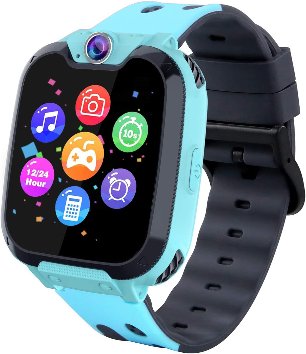 Kids Phone Smartwatch with Games & MP3 Player - 1.54 inch Touch Screen Watch Phone 2 Way Call Music Player Game Funny Camera Alarm Clock Children School Gift for 3-10 Years Old Boys Girls, Blue