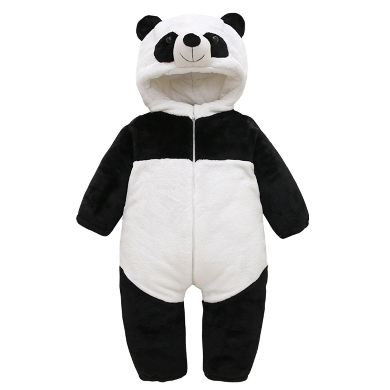 CHIC-CHIC Baby Walk-Overall Panda Winter Overall Baby Schlafsack Schlafanzug Kleinkind Baumwolle Strampler Kapuzejacke Kind Strampelanzug