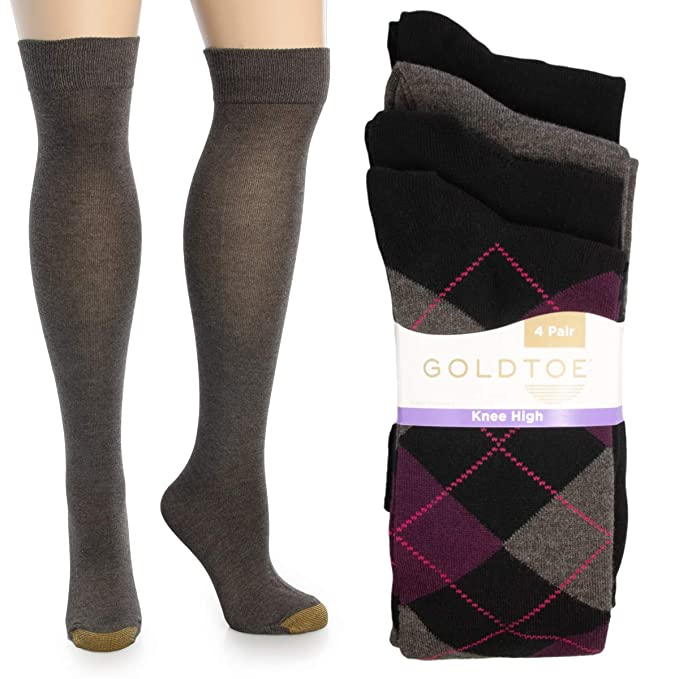 aa0858fc8 Image Unavailable. Image not available for. Color  Gold Toe (4 Pairs) Womens  Socks