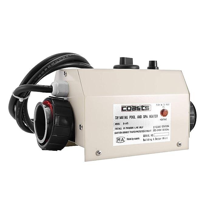 Moracle Termostato 220 V 3KW Termostato del Calentador de Agua 48\50 mm Diámetro para Piscina Controlador de Temperatura Automático 48\50mm Calentador ...