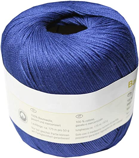 b2q – Ovillo para Tejer Ganchillo Hilo 100% algodón 50 g Color Azul Oscuro (4152): Amazon.es: Hogar