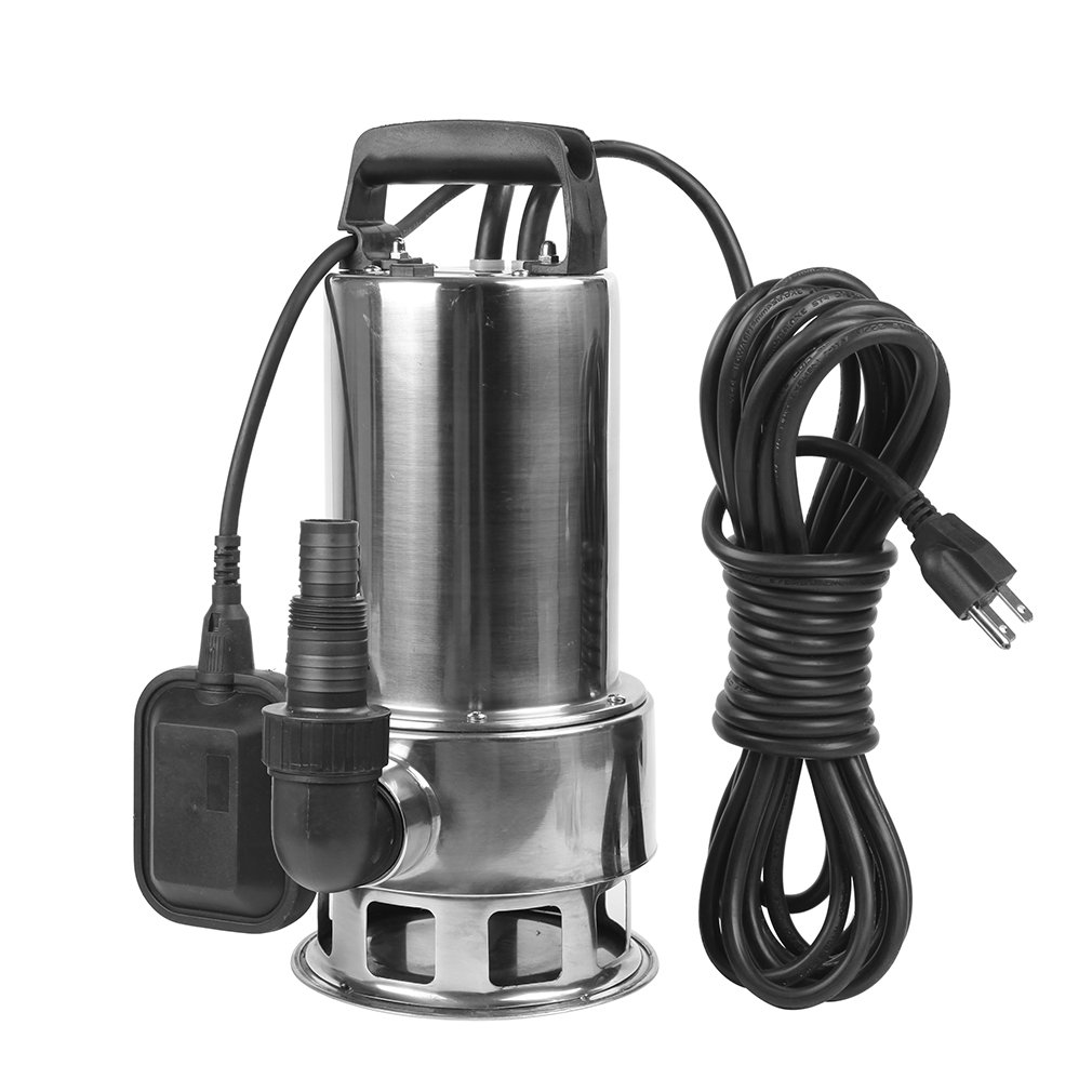 EXTRAUP 1.5HP 4250 GPH Stainless Steel Sump Submersible Clean Dirty Heavy Duty Drain Water Transfer Pump Pool Pond Flood Pump by EXTRAUP