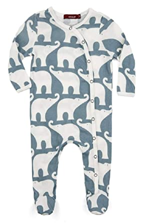 47a52aebe Amazon.com  MilkBarn Organic Cotton Long Sleeve Footed Romper  Clothing