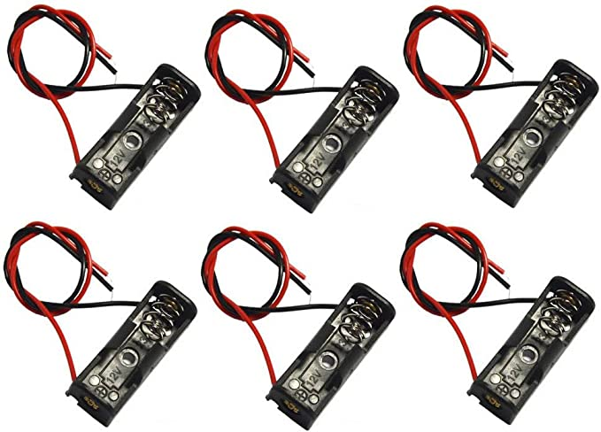 23A 32A Battery case 12V Clip Holder Box Case With Lead x 1 Wires Black UK