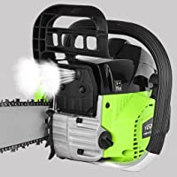 """Mnjin 20"""" 58CC Gas Powered Chainsaw 2 Stroke Handed Petrol Gasoline Chain Saw, Handed Petrol Gasoline Chain Saw Offers…"""